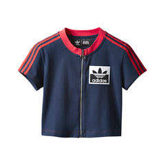 adidas X Olivia LeBlanc Womens Crop Top (Collegiate Navy)