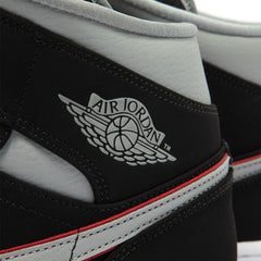 Air Jordan 1 Mid (Black/Particle Grey-White-Gym Red)