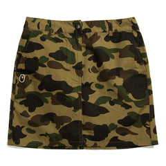 A BATHING APE WOMEN'S 1ST CAMO SKIRT (GREEN)