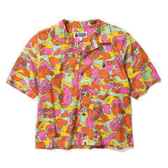 A BATHING APE WOMEN'S ABC CAMO FLOWER SS SHIRT (MULTI)
