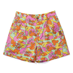 A BATHING APE WOMEN'S ABC CAMO FLOWER SHORTS (MULTI)