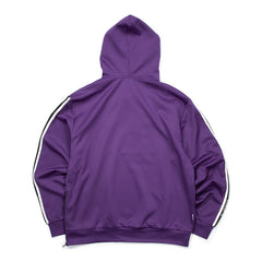 Concepts Lounge Track Logo Zip Hoodie (Purple)
