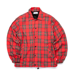 Concepts Plaid Coach's Jacket (Red)