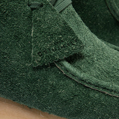 Clarks Wallabee Boot (Forest Green Hairy Suede)