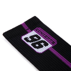 CONCEPTS 96 PLATE SOCKS (BLACK/PURPLE)