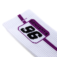 Concepts 96 Plate Socks (White/Purple)