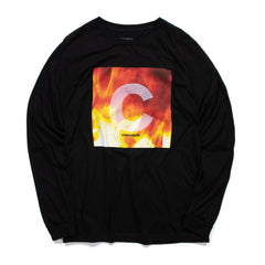 Concepts Broken Long Sleeve Tee (Black)