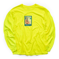 CONCEPTS PAINTED FACE LS TEE (SAFETY GREEN)
