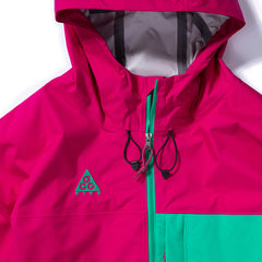 Nike ACG Packable Rain Jacket (Sport Fuchsia/Lucid Green)