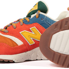 New Balance Toddler PR997HCZ (White/Orange-Blue)