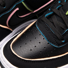 Nike Kid's Air Force 1 LV8 (BLACK/PINK/BARELY VOLT/BLACK)