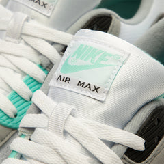 Nike Air Max 90 (White/Particle Grey-Hyper Turq-Black)