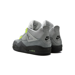 Nike Air Jordan 4 Retro LE (Cool Grey/Volt-Wolf Grey-Anthracite)