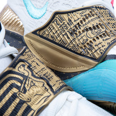 "Nike x Concepts Kyrie 6 ""Golden Mummy"" Pre-School (Sail/Light Aqua-Metallic Gold-Black)"