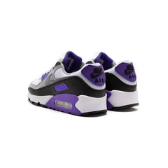 Nike Women's Air Max 90 (White/Particle Grey-Hyper Grape-Black)