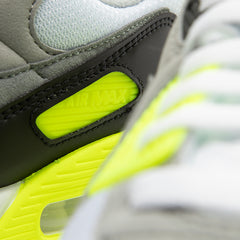 Nike Women's Air Max 90 (White/Particle Grey-Volt-Black)