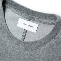 OVADIA & SONS VELOUR T SHIRT (GREY)