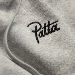 Patta Printed Skull Zip Hooded Sweater (Melange Grey)