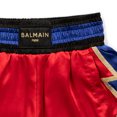 PUMA WOMEN'S X BALMAIN BOXING SHORTS (HIGH RISK RED)