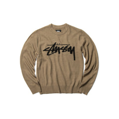 Stussy Women's Brushed Out Logo Sweater (Taupe)
