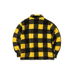 Stussy POLAR FLEECE ZIP UP SHIRT (Yellow Check)