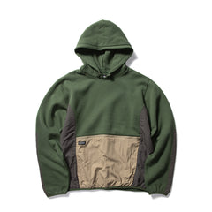 STUSSY WOMEN'S DIVISION CONTRAST HOOD (FOREST)