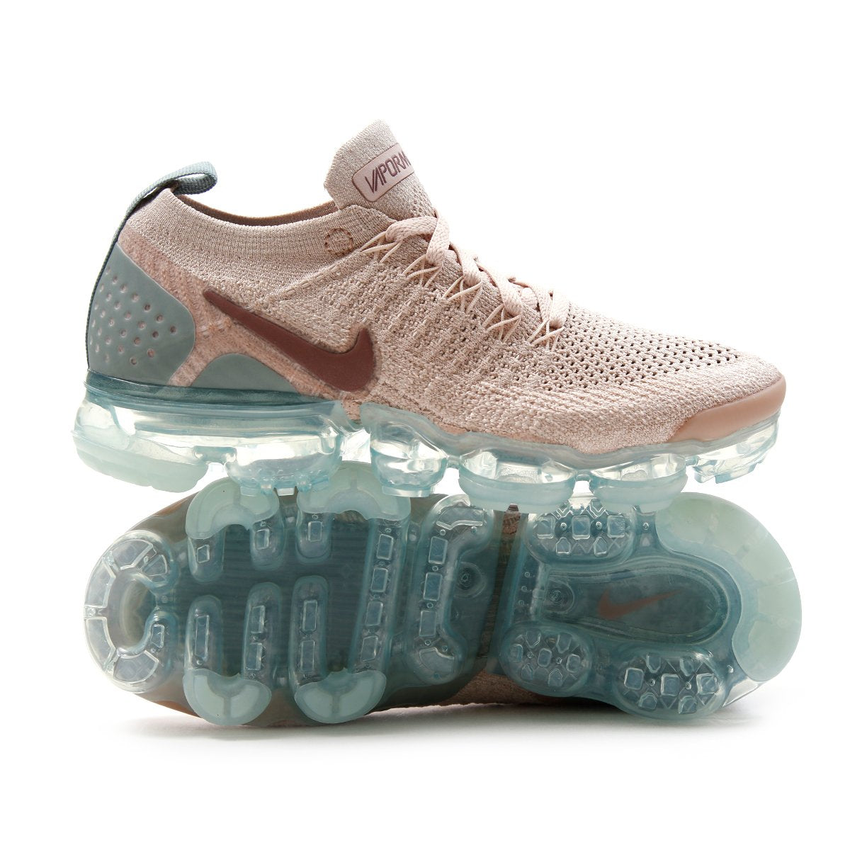 6e15ae6967aa Nike Womens Air Vapormax Flyknit 2 (Particle Beige Smokey Mauve Mica Green)
