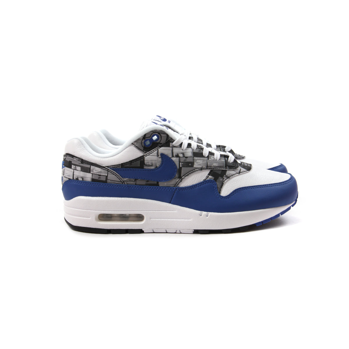 new style new cheap online retailer ConceptsIntl | Nike Air Max 1 Print (White/Game Royal ...