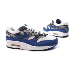 Nike Air Max 1 Print (White/Game Royal/Neutral Grey)