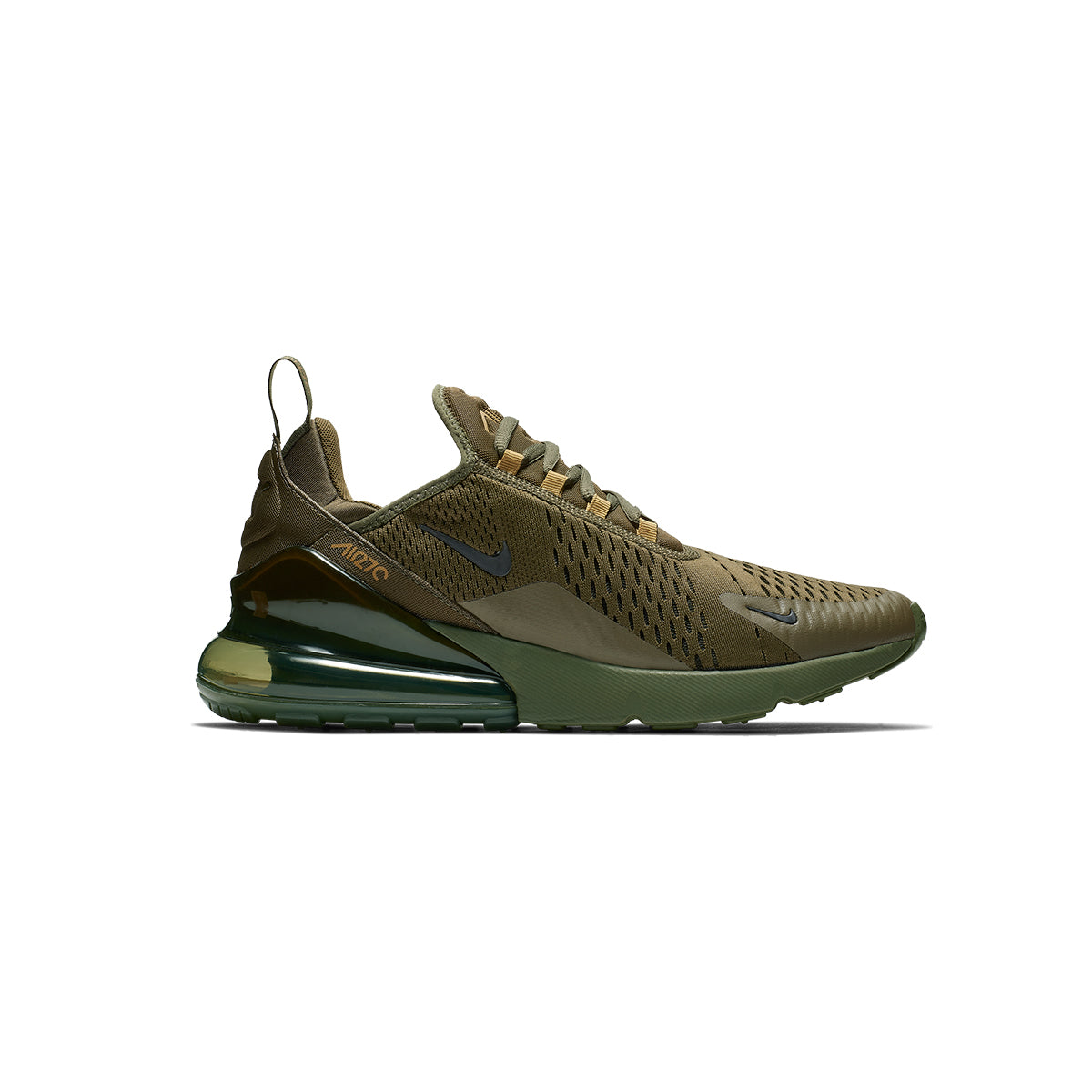 Nike Air Max 270 Medium OliveBlack Total Orange White For Sale