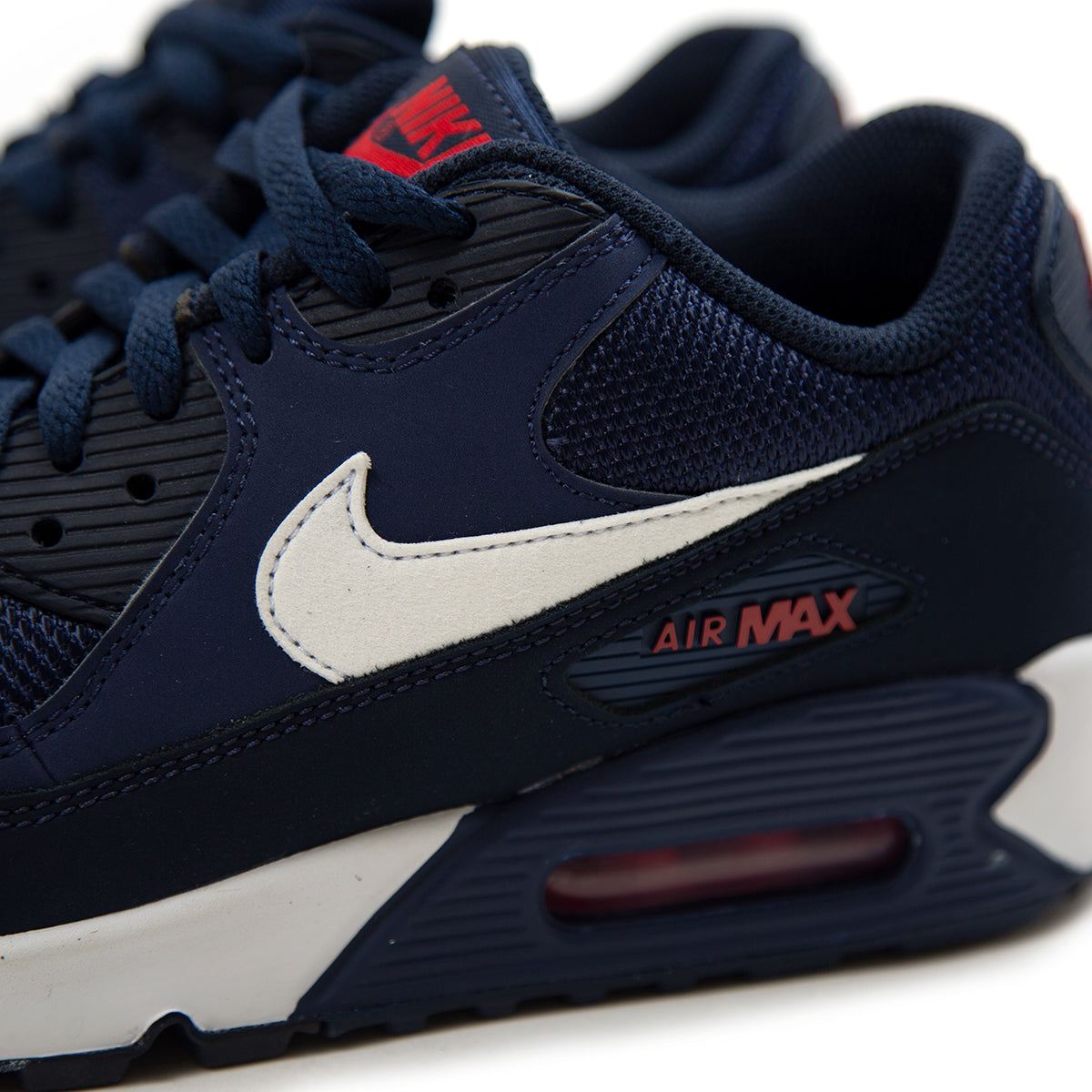 buy online c474a 9a5aa Nike Air Max  90 Essential (Midnight Navy White-University Red)