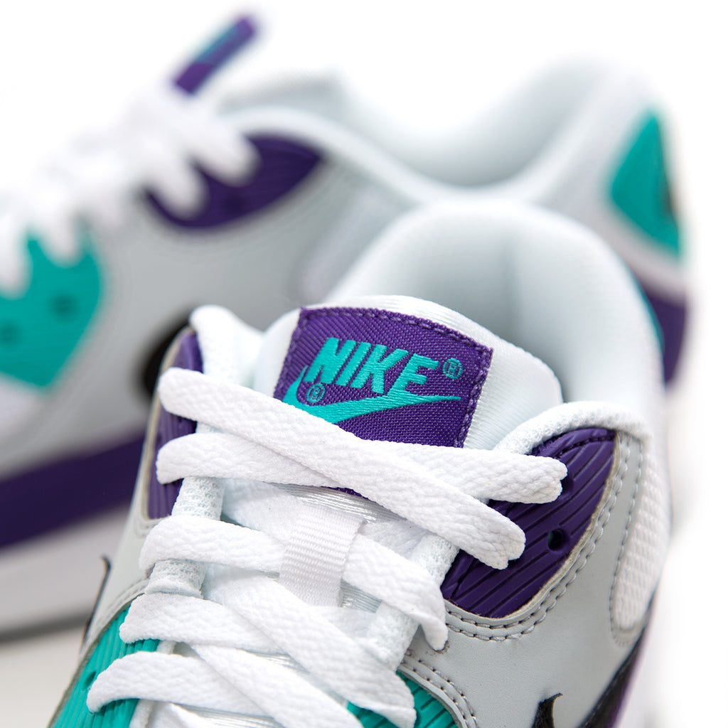 e02585019890 ... Nike Air Max  90 Essential (White Black-Hyper Jade-Court Purple ...