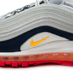 Nike Womens Air Max 97 (Pure Platinum/Laser Orange-Midnight Navy)