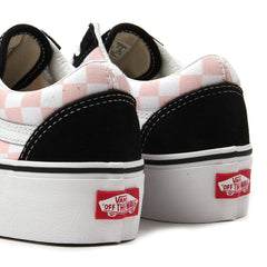 Vans Womens Old Skool Platform (Black/Pink Checkerboard)