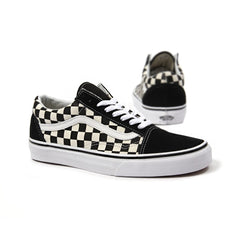 Vans Old Skool Primary Check (Black/White)