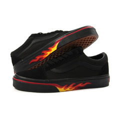 Vans Old Skool (Flame Wall) (Black/Black)