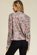 Load image into Gallery viewer, Floral Drape Zipper Pockets Waterfall Blazer (Sm - Lg)