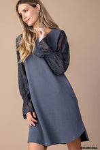 Load image into Gallery viewer, Lace Sleeve Comfortable Dress With Side Pocket (S-L)