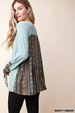 Load image into Gallery viewer, Sage Buttery Soft Long Sleeve sleeve detail Top (S-L)