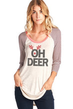 Load image into Gallery viewer, Oh Deer Baseball Graphic Tee (Sm-Lg)