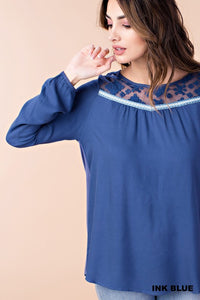 Ink Blue Blouse (SM-L)