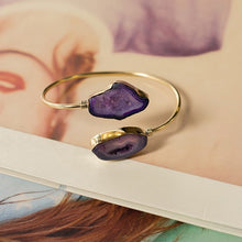 Load image into Gallery viewer, Purple Agate Stone Bracelet (one size)