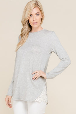 French Terry Long Sleeve Top (S-XL)