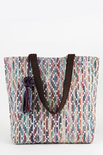 Load image into Gallery viewer, Multi Color Hand Woven Tote