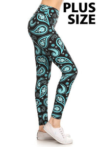 Paisley Print Yoga Leggings (Sizes 14 - 18/20)