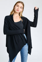 Load image into Gallery viewer, Solid Black Cardi (Sm-Lg)