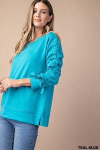 String Sleeve Sweatshirt (S-L)