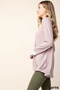 Surplice Lace Up Top (S-L)
