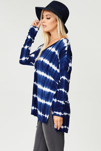 Plus Size Tie Dye Tunic Top (1XL-3XL)