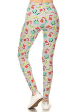 Load image into Gallery viewer, One Size Dinosaur Print Yoga Leggings